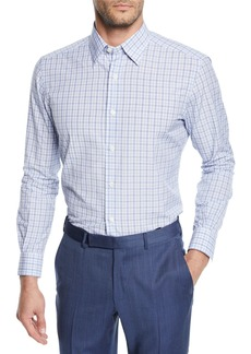 Ermenegildo Zegna Men's Vichy Check Cotton Sport Shirt