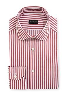 Ermenegildo Zegna Men's Washed Bengal Striped Cotton Dress Shirt