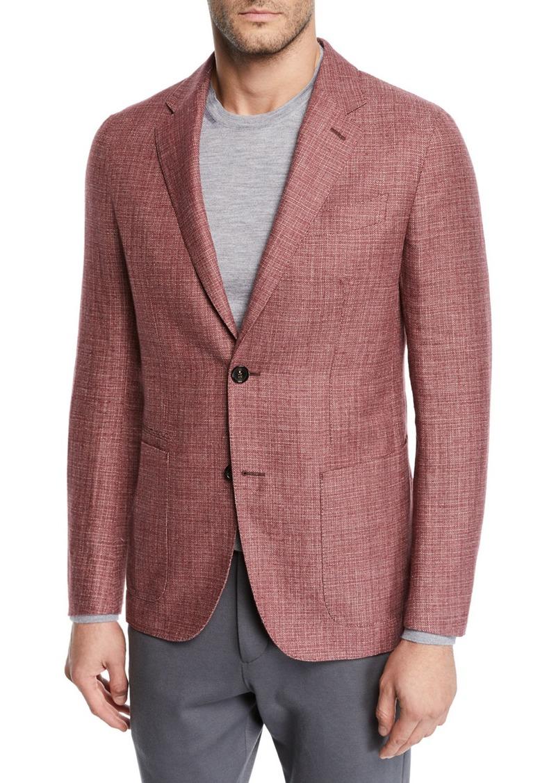 Ermenegildo Zegna Men's Wool/Linen Tic Blazer