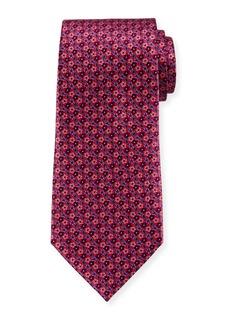 Ermenegildo Zegna Micro-Flowers Silk Tie  Pink
