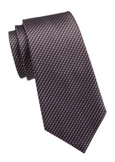 Ermenegildo Zegna Micro Neat Print Silk Tie