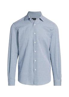 Ermenegildo Zegna Micro Print Seersucker Dress Shirt
