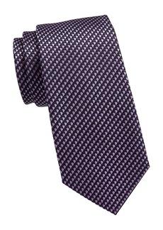 Ermenegildo Zegna Micro Print Silk Tie