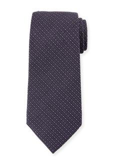 Ermenegildo Zegna Micro-Tic Silk Tie  Purple