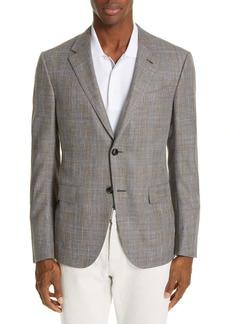 Ermenegildo Zegna Milano Classic Fit Plaid Wool Blend Sport Coat
