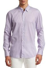 Ermenegildo Zegna Mini Dot Print Button Down Shirt