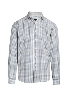 Ermenegildo Zegna Mixed Plaid Button-Front Shirt