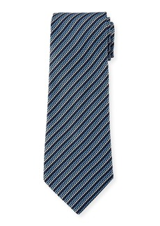 Ermenegildo Zegna Narrow Striped Silk Tie