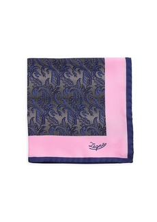 Ermenegildo Zegna Paisley Silk Pocket Square