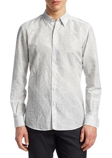 Ermenegildo Zegna Palm Leaf Button-Down Shirt