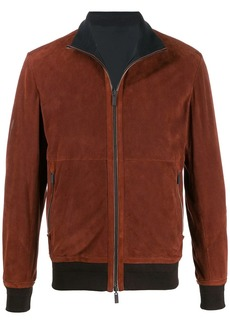Ermenegildo Zegna perforated bomber jacket