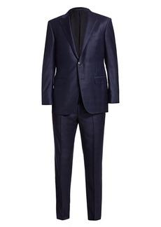 Ermenegildo Zegna Plaid Single-Breasted Wool Suit