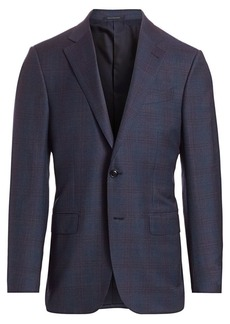 Ermenegildo Zegna Plaid Wool Jacket