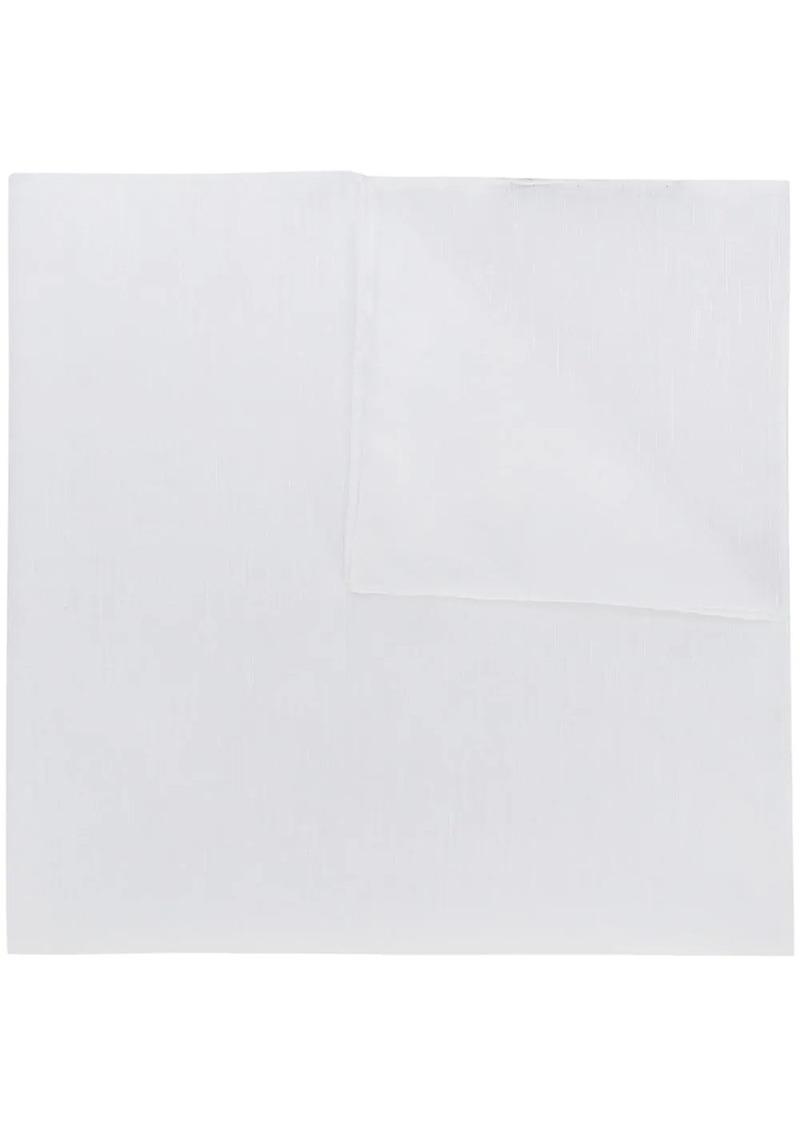 Ermenegildo Zegna plain pocket square