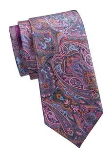 Ermenegildo Zegna Print Silk Tie