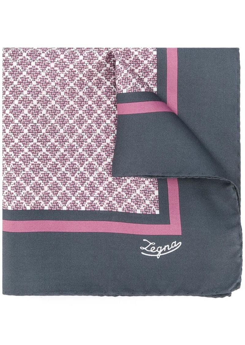 Ermenegildo Zegna printed pocket square