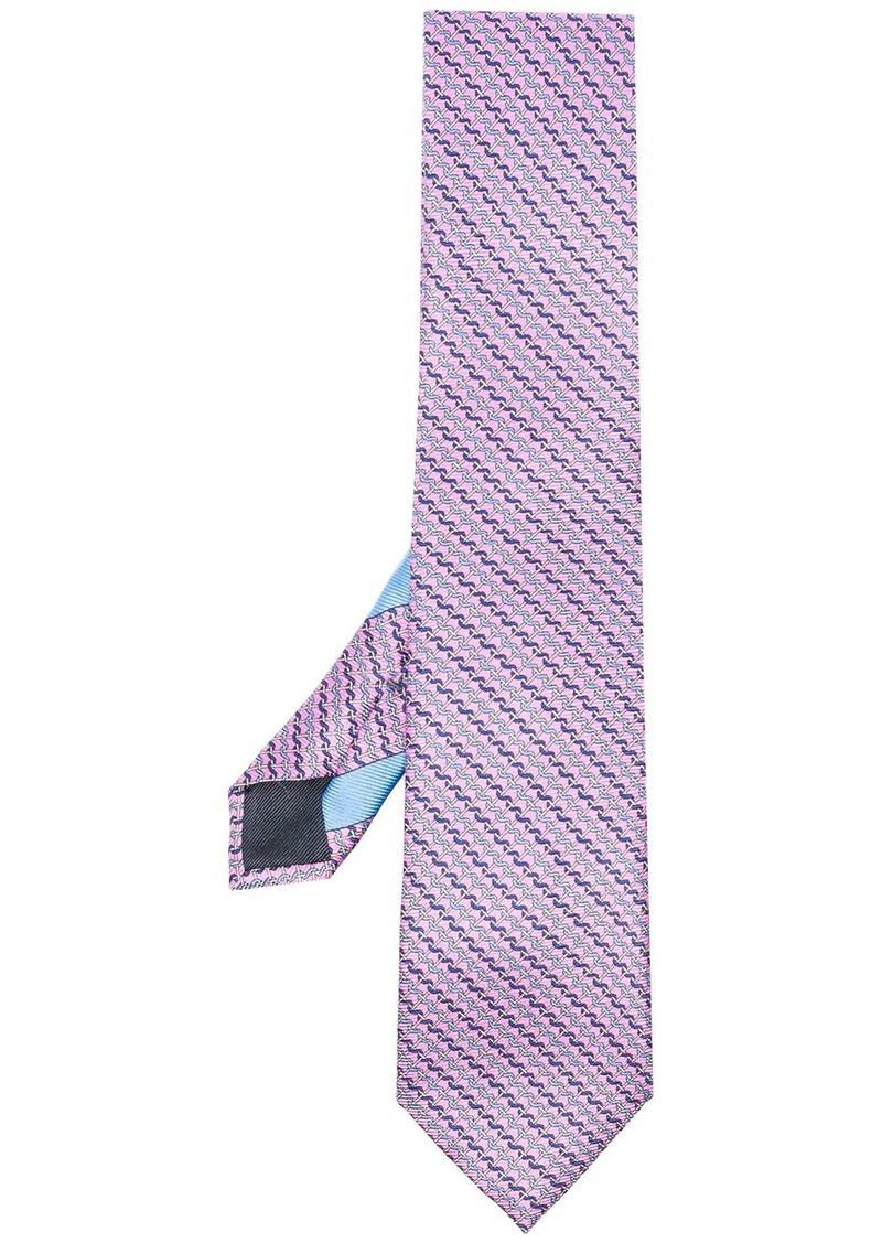 Ermenegildo Zegna purple printed silk tie