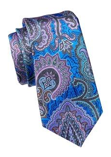 Ermenegildo Zegna Quindici Exploded Paisley Silk Tie