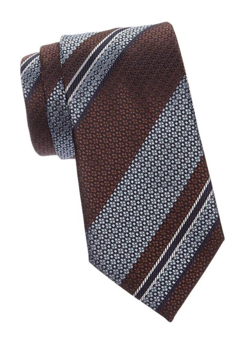 Ermenegildo Zegna Reptile Stripe Silk Tie
