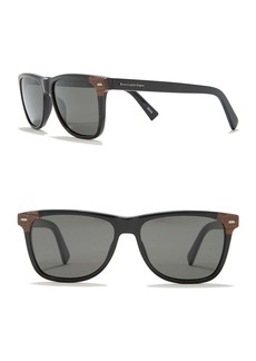 Ermenegildo Zegna Retro Square 56mm Sunglasses