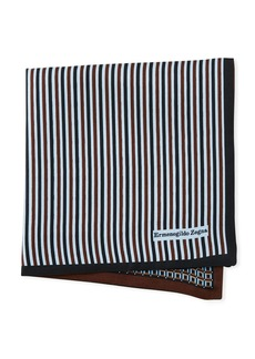 Ermenegildo Zegna Reversible 3D Box Silk Pocket Square