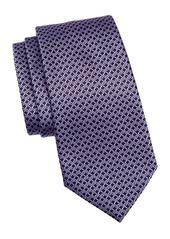 Ermenegildo Zegna Silk Knot Pattern Tie