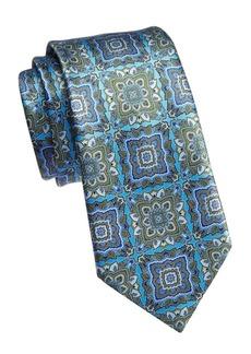 Ermenegildo Zegna Silk Large Medallion Tie
