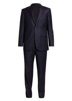 Ermenegildo Zegna Single-Breasted Plaid Suit