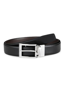 Ermenegildo Zegna Smooth Leather Reversible Belt