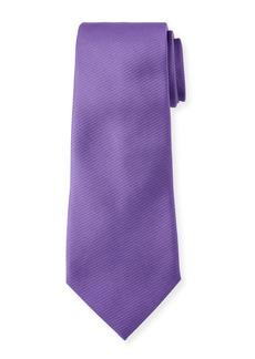 Ermenegildo Zegna Solid Silk Twill Tie  Purple