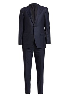 Ermenegildo Zegna Solid Single-Breasted Wool Suit