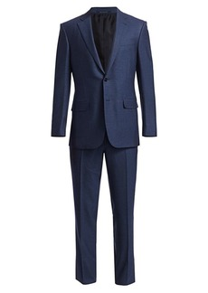 Ermenegildo Zegna Solid Wool Single-Breasted Suit
