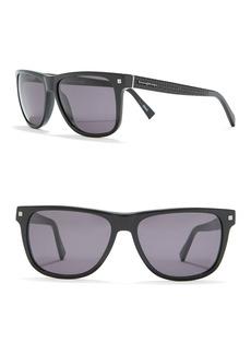 Ermenegildo Zegna Sport 57mm Square Sunglasses