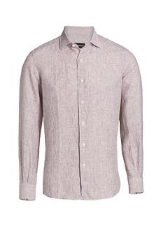 Ermenegildo Zegna Striped Linen Dress Shirt