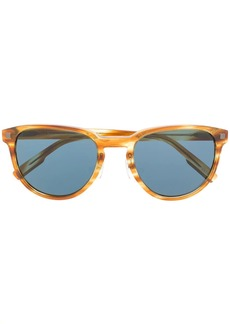 Ermenegildo Zegna striped round-frame sunglasses