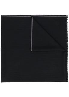 Ermenegildo Zegna striped-trim scarf