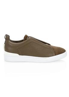 Ermenegildo Zegna Suede & Leather Sneakers