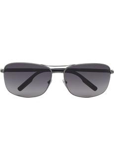Ermenegildo Zegna slim aviator frame sunglasses