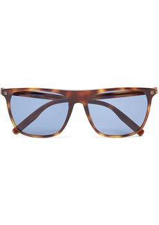 Ermenegildo Zegna tortoiseshell rectangular-frame sunglasses