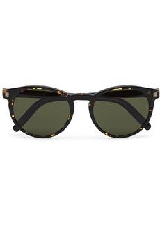 Ermenegildo Zegna tortoiseshell round-frame sunglasses