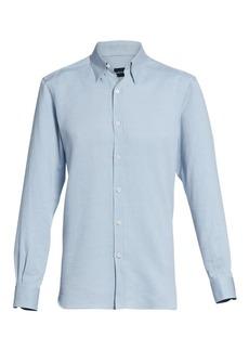 Ermenegildo Zegna Three-Ply Basic Cotton Dress Shirt