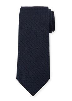 Ermenegildo Zegna Tonal Ovals Silk Tie  Blue