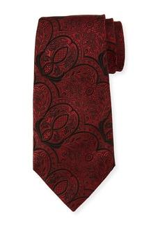 Ermenegildo Zegna Tonal Paisley Silk Tie