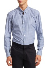 Ermenegildo Zegna Tonal Plaid Button-Down Shirt