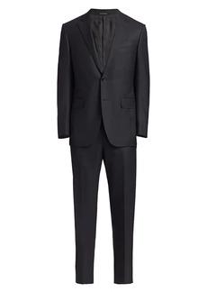 Ermenegildo Zegna Tonal Stripe Wool Suit