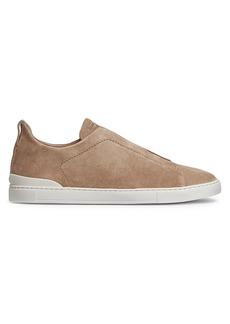 Ermenegildo Zegna Triple Stitch Suede Sneakers