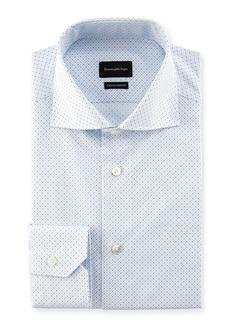 Ermenegildo Zegna Trofeo Comfort Micro-Print Cotton Dress Shirt