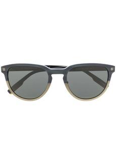 Ermenegildo Zegna two-tone round-frame sunglasses