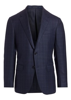 Ermenegildo Zegna Windowpane Wool Jacket