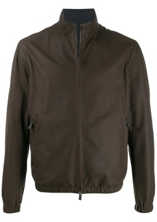 Ermenegildo Zegna zip-up leather jacket